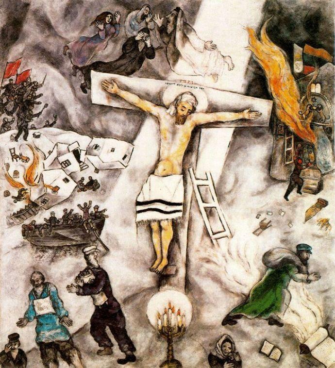 crucificción blanca